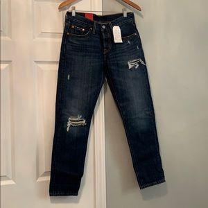 Levi's 501 Originals Tapered Distressed Jeans